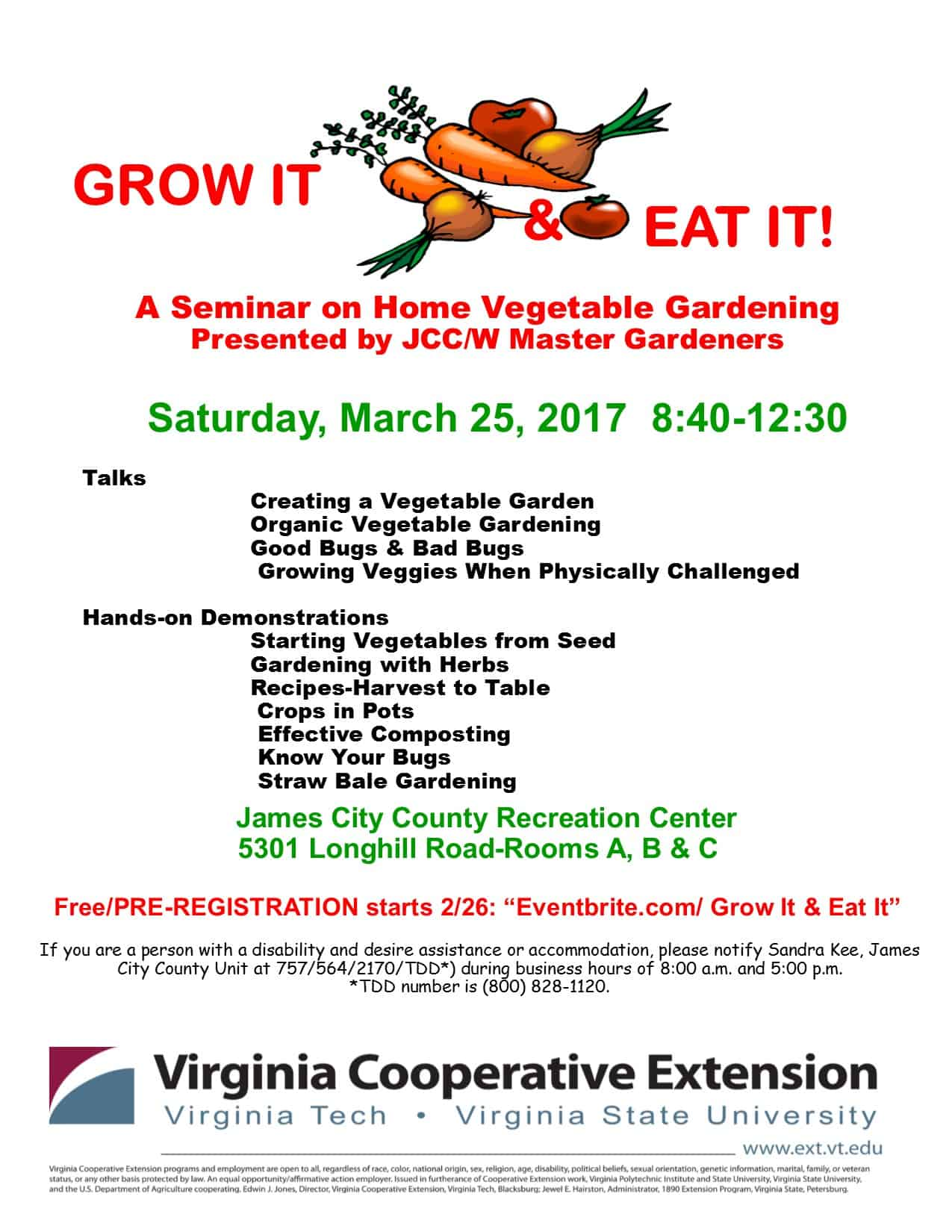 Grow and Eat flyer